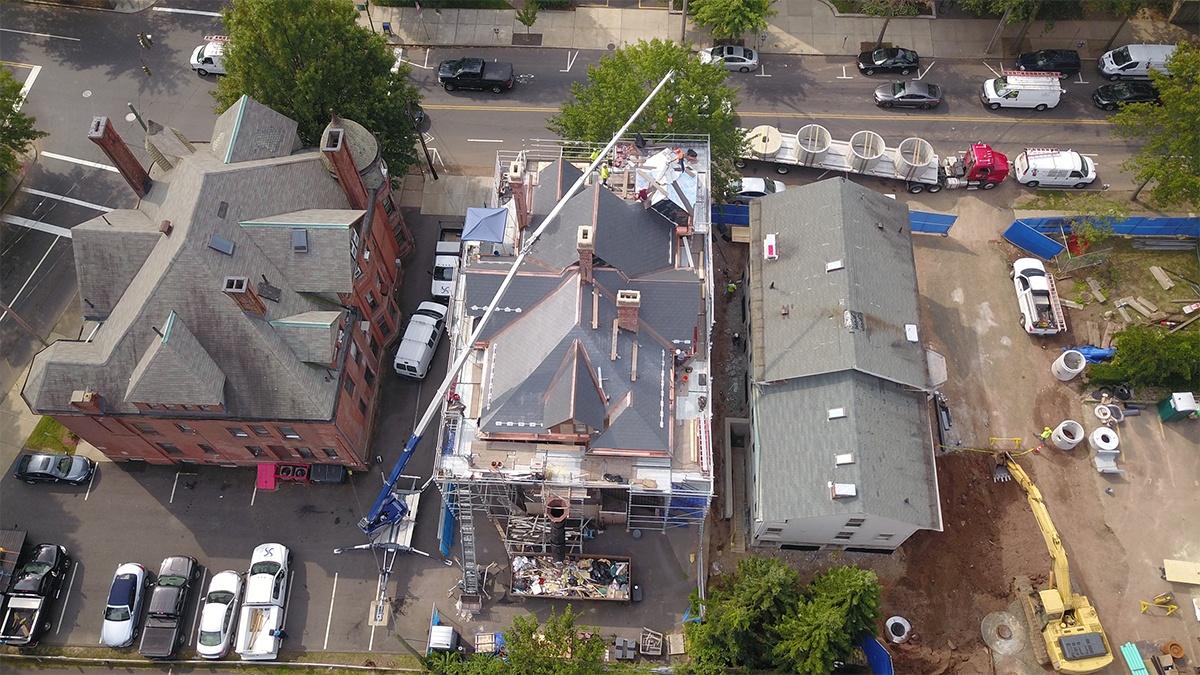 Crane roof shot